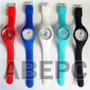 Часы с логотипом силиконовый резиновый браслет